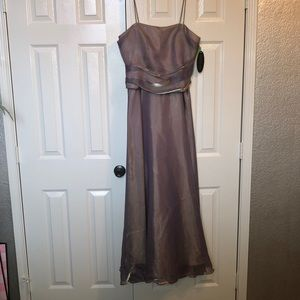 Gold/iridescent colored prom dress